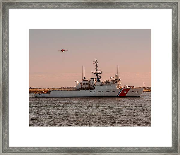 United States Coast Guard Cutter Escanaba Wmec-907 Framed Print