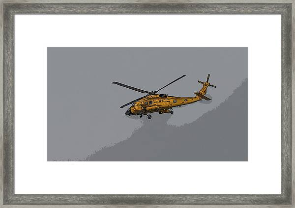 United States Coast Guard Helicopter Framed Print