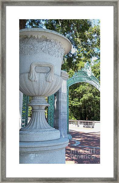 University Of California At Berkeley Sproul Plaza And Sather Gate Dsc6288 Framed Print