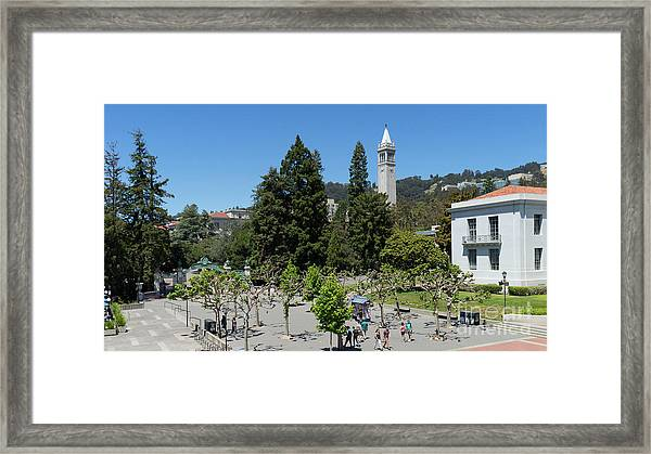 University Of California At Berkeley Sproul Plaza Sather Gate And Sather Tower Campanile Dsc6254 Framed Print
