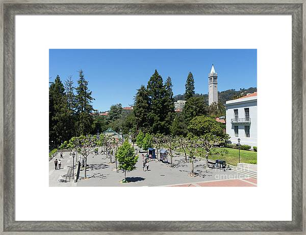 University Of California At Berkeley Sproul Plaza Sather Gate And Sather Tower Campanile Dsc6256 Framed Print