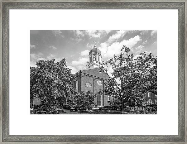 University Of Dayton Chapel Framed Print