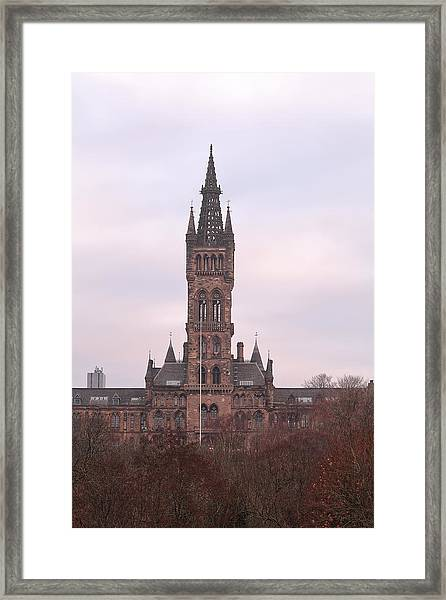University Of Glasgow At Sunrise Framed Print