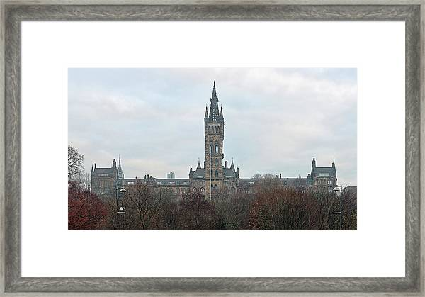 University Of Glasgow At Sunrise - Panorama Framed Print