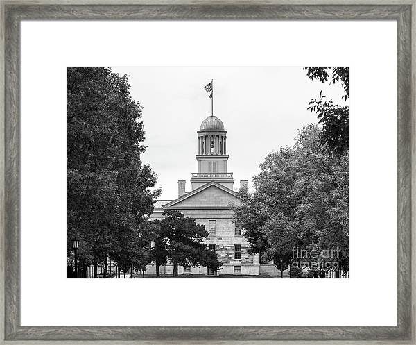 University Of Iowa Old Capital Framed Print