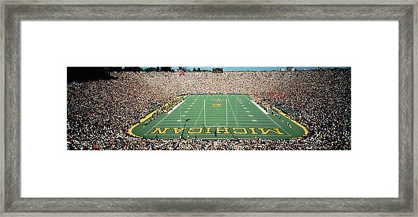 University Of Michigan Stadium, Ann Framed Print
