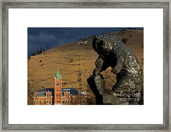 University Of Montana Icons Framed Print
