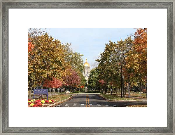 University Of Notre Dame Framed Print