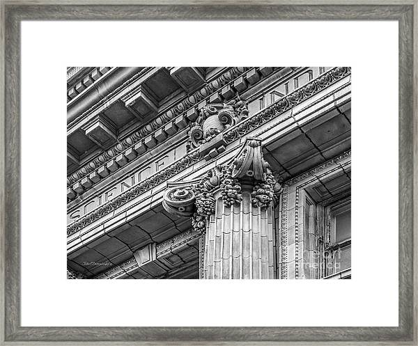 University Of Pennsylvania Column Detail Framed Print