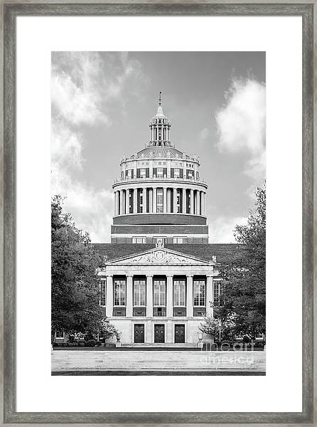 University Of Rochester Rush Rhees Library Framed Print