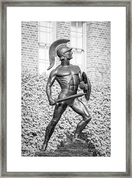 University Of Southern California Tommy Trojan Statue Framed Print