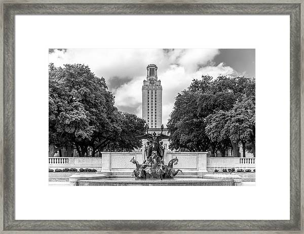 University Of Texas Austin Littlefield Fountain Framed Print