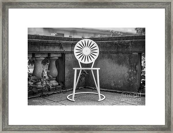 University Of Wisconsin Madison Terrace Chair Framed Print by University Icons