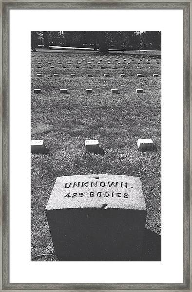Unknown Bodies Framed Print