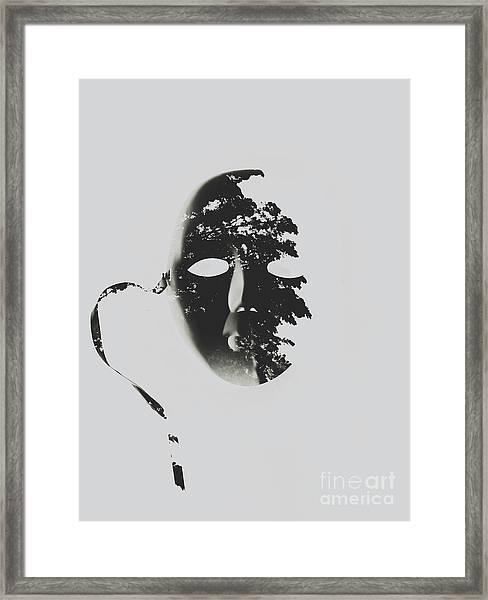 Unmasking In Silence Framed Print