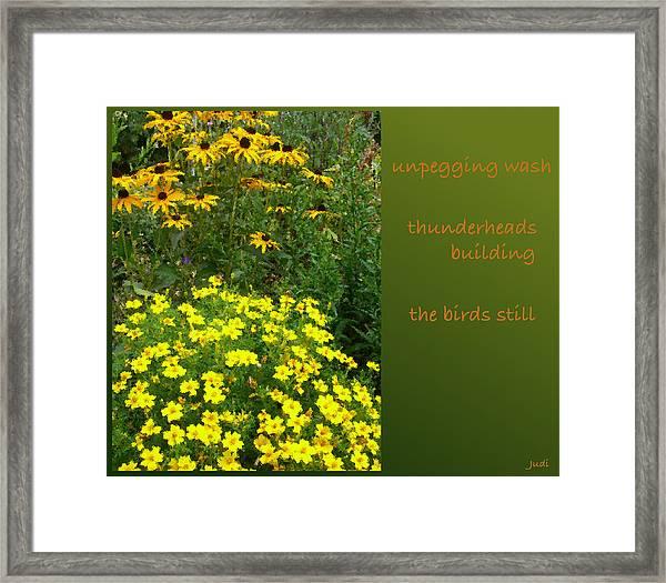 Unpegging Wash Haiga Framed Print