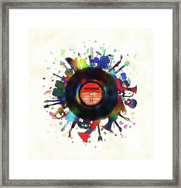 Unplugged Framed Print