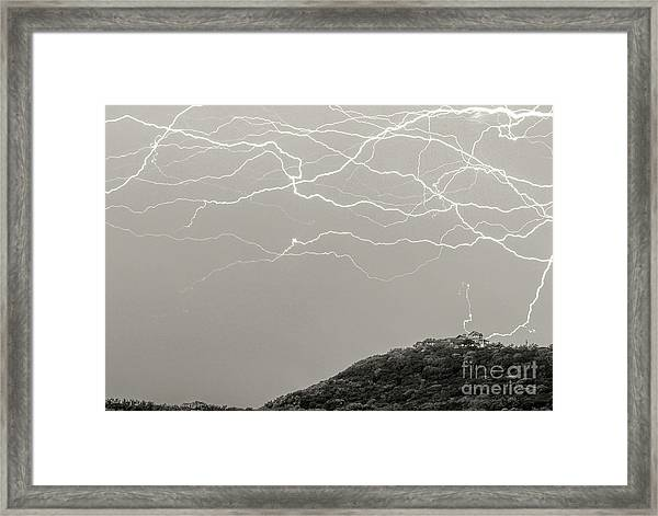 Unreal Lightning Framed Print