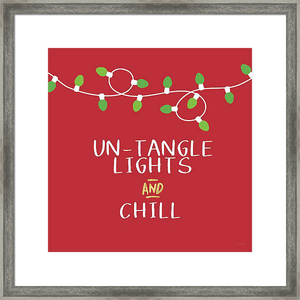 Untangle Lights And Chill- Art By Linda Woods Framed Print