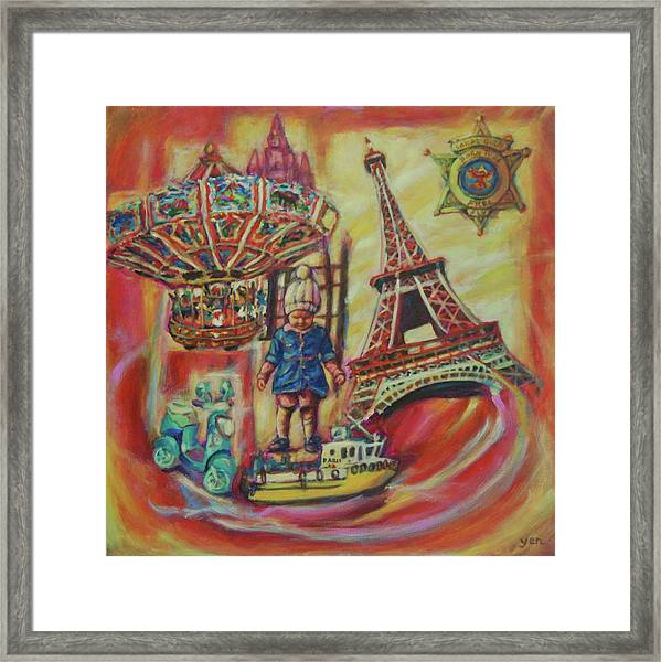 Framed Print featuring the painting Untitled 6 by Yen