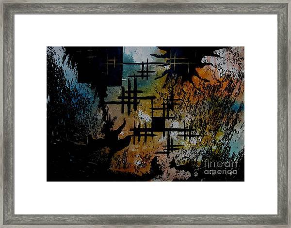 Cross Line Framed Print