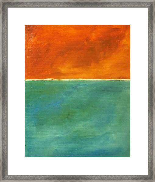 Untitled, Abstract Framed Print