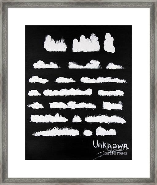 Unwritten Framed Print