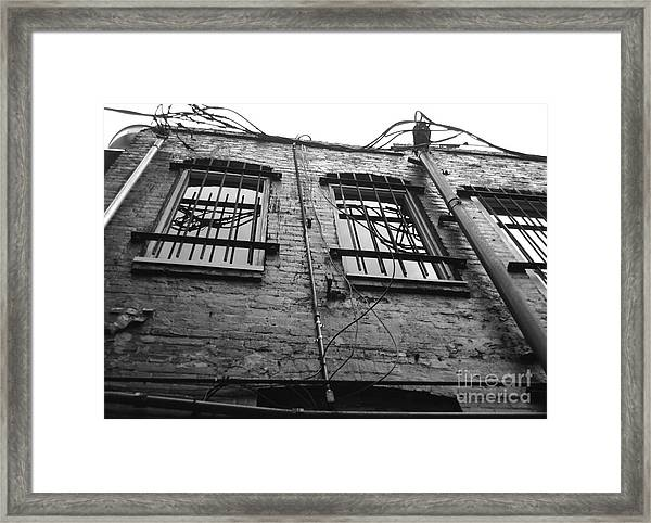 Up And Barred Framed Print