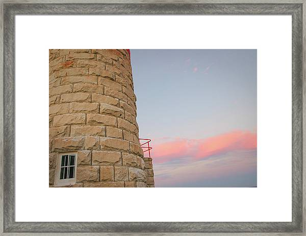 Close-up Detail Of The Cape Moreton Lighthouse Framed Print