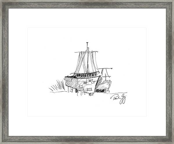 Up For Repairs In Pointe A La Hache Louisiana Framed Print