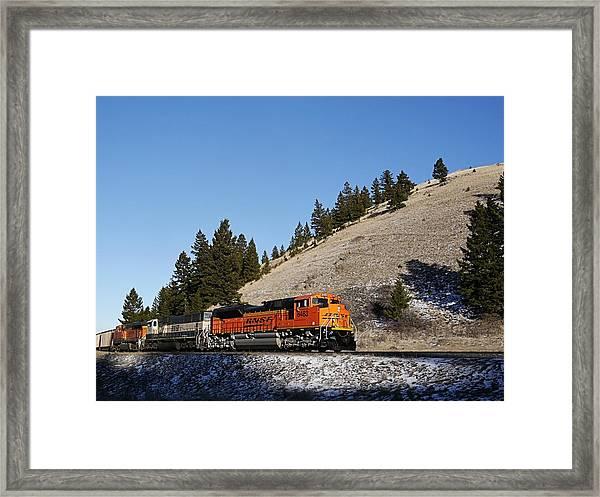 Up Hill And Into The Sun Framed Print