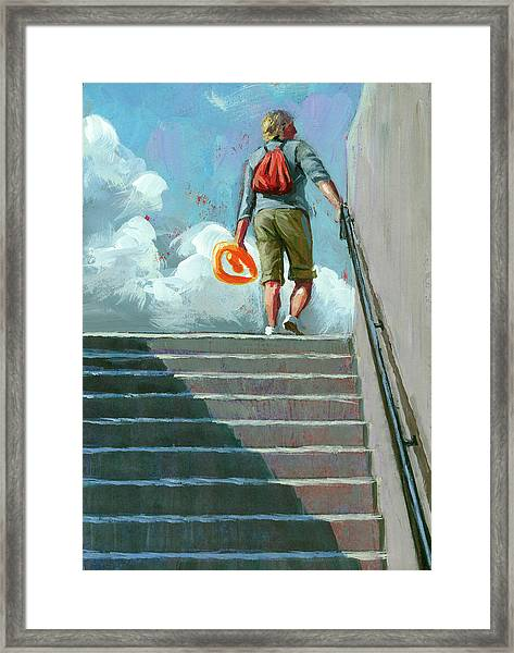 Up Stairs Framed Print