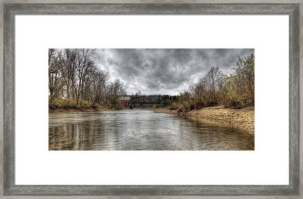 Up The Creek Framed Print