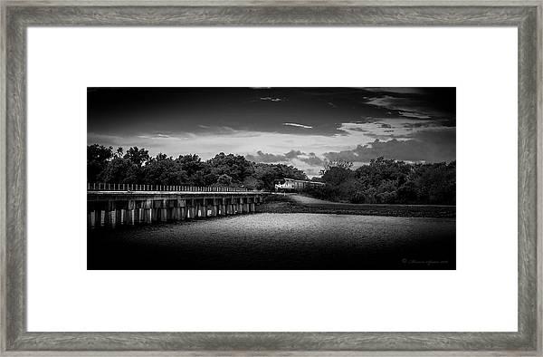 Up To Speed-b/w Framed Print
