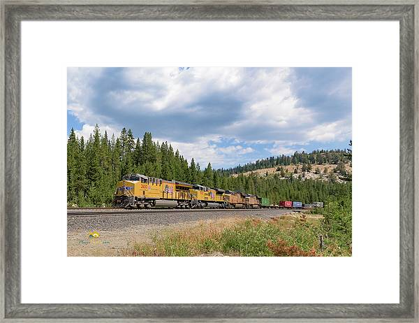 Up2650 Westbound From Donner Pass Framed Print
