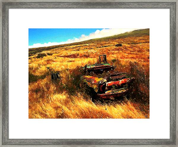 Upcountry Wreck Framed Print