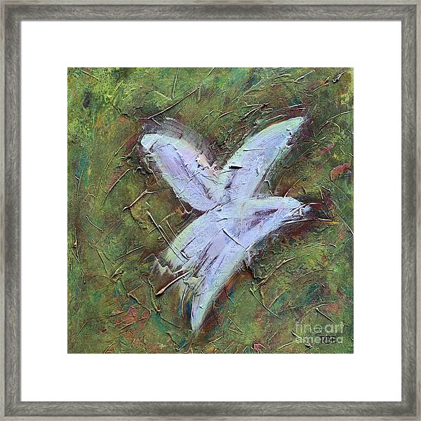 Upon Angels Wings Framed Print