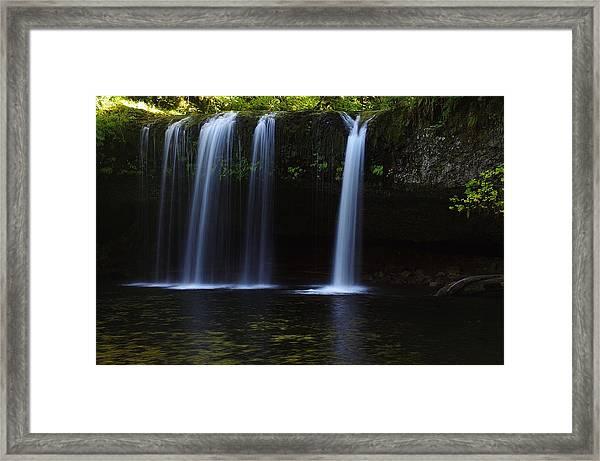 Upper Butte Creek Falls - Front Framed Print