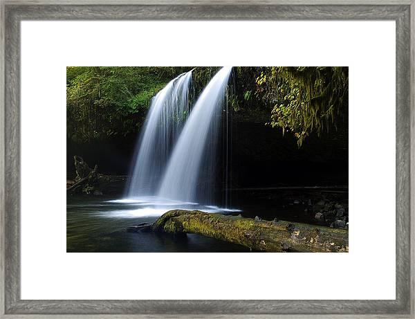 Upper Butte Creek Falls Framed Print