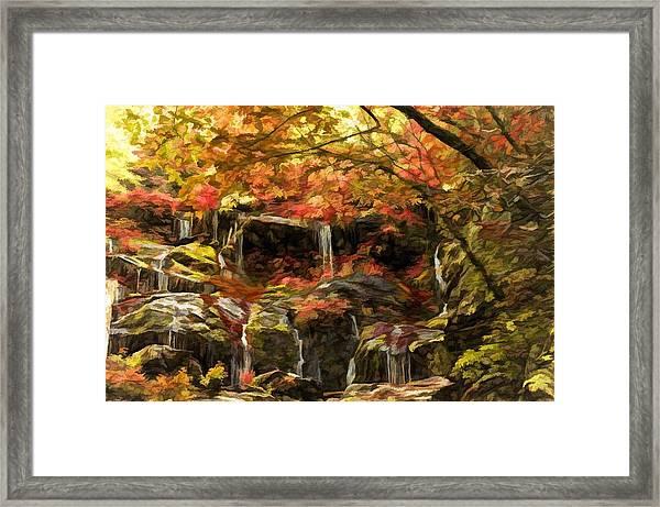 Upper Catawba Falls North Carolina Framed Print