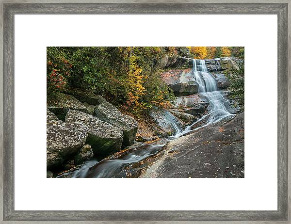 Upper Creek Falls Framed Print