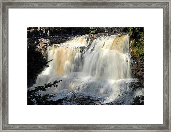 Upper Falls Gooseberry River Framed Print