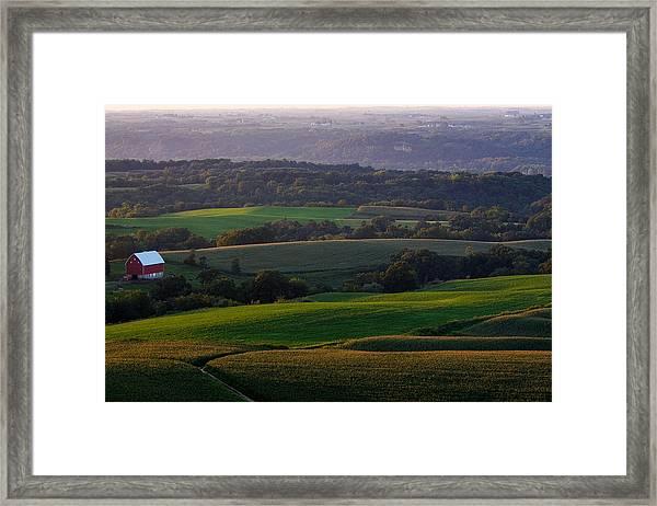 Upper Mississippi River Valley Hills Framed Print