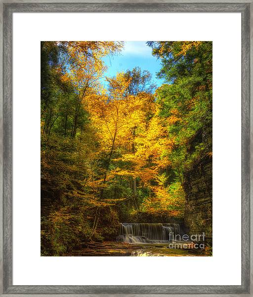 Upper Pinnacle Falls Framed Print