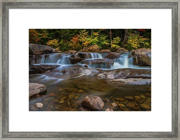 Upper Swift River Falls In White Mountains New Hampshire Framed Print
