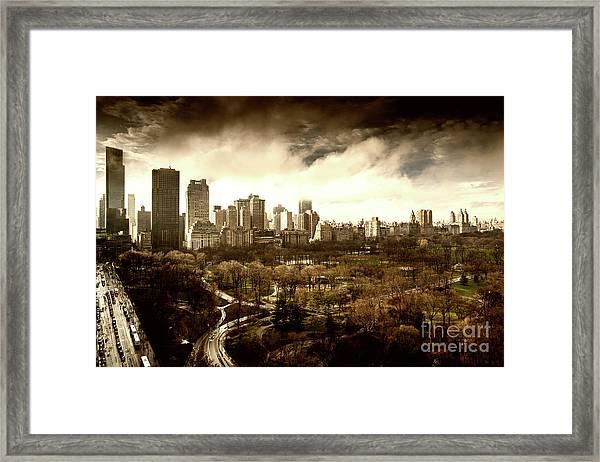 Upper West Side Of New York City Framed Print