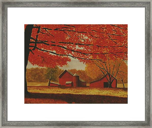 Upstate Autumn Framed Print by Mark Regni