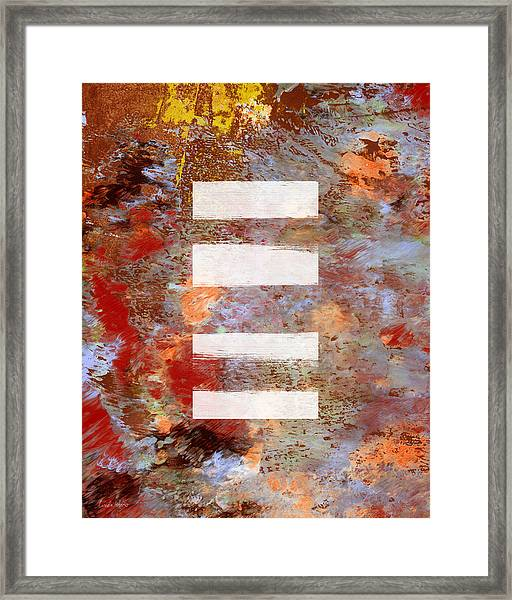 Urban Abstract- Art By Linda Woods Framed Print
