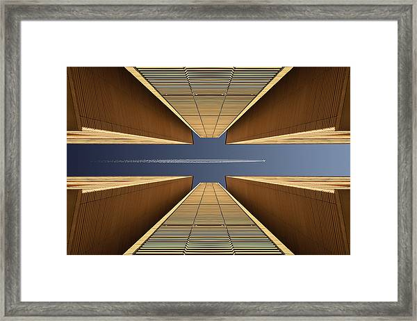 Urban Canyon Framed Print