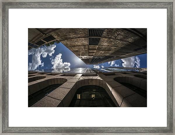 Urban Canyon Sunburst Framed Print